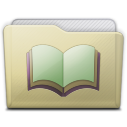 256x256px size png icon of beige folder library alt