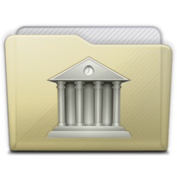 256x256px size png icon of beige folder library