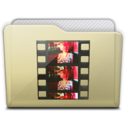 256x256px size png icon of beige folder movies
