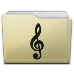 256x256px size png icon of beige folder music alt