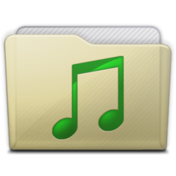 256x256px size png icon of beige folder music