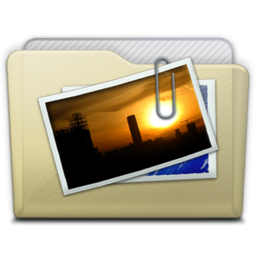 256x256px size png icon of beige folder pictures alt