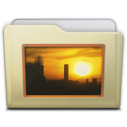 256x256px size png icon of beige folder pictures