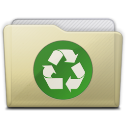 256x256px size png icon of beige folder recycle