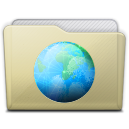 256x256px size png icon of beige folder sites