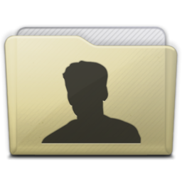 256x256px size png icon of beige folder user
