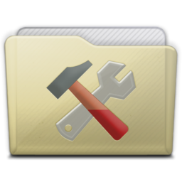 256x256px size png icon of beige folder utilities
