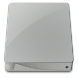 256x256px size png icon of drive external alt