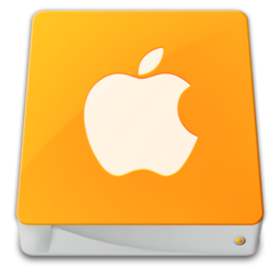 256x256px size png icon of drive external apple