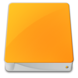 256x256px size png icon of drive external