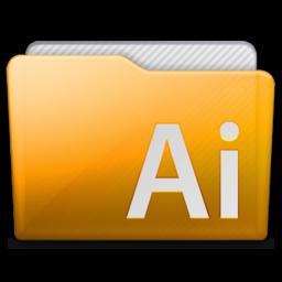 256x256px size png icon of folder adobe illustrator
