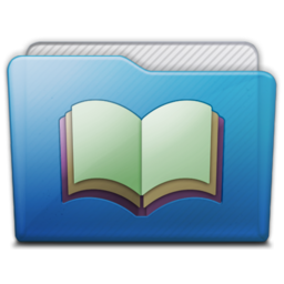 256x256px size png icon of folder library alt