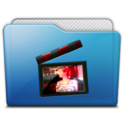 256x256px size png icon of folder movies alt