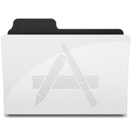 256x256px size png icon of ApplicationsFolderIcon Y