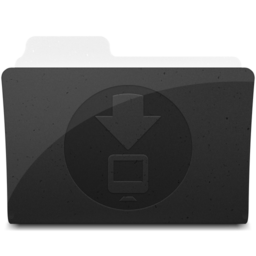 256x256px size png icon of DownloadsFolder