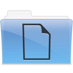 256x256px size png icon of AQUA Documents 1