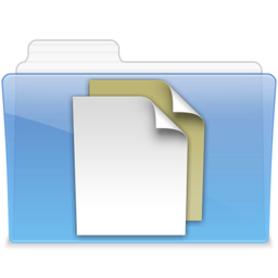 256x256px size png icon of AQUA Documents 2