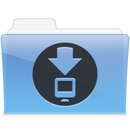 256x256px size png icon of AQUA Downloads 1