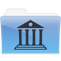 256x256px size png icon of AQUA Library 1