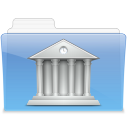 256x256px size png icon of AQUA Library 2
