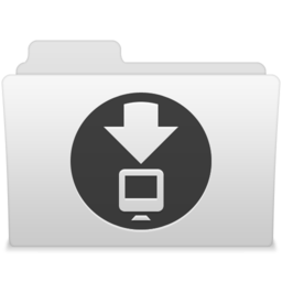 256x256px size png icon of Downloads 1