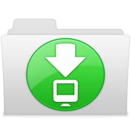 256x256px size png icon of Downloads 2