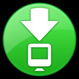 256x256px size png icon of ToolbarDownloadsFolderIcon