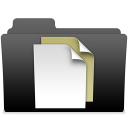 256x256px size png icon of black leopard milk documents 2