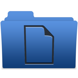 256x256px size png icon of smooth navy blue documents 1