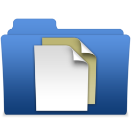 256x256px size png icon of smooth navy blue documents 2