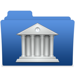 256x256px size png icon of smooth navy blue library 2