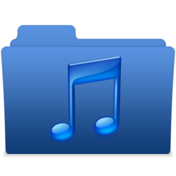256x256px size png icon of smooth navy blue music 2
