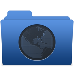 256x256px size png icon of smooth navy blue sites 1