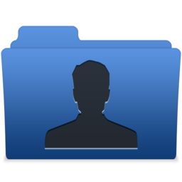 256x256px size png icon of smooth navy blue user