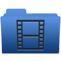 256x256px size png icon of smooth navy blue videos 1