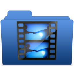 256x256px size png icon of smooth navy blue videos 2