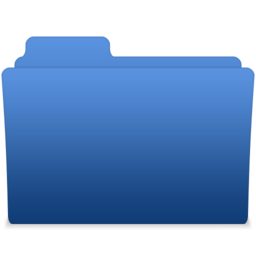 256x256px size png icon of smooth navy blue