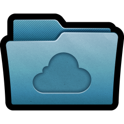 256x256px size png icon of Folder Cloud