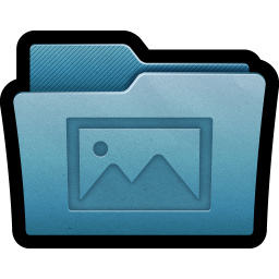 256x256px size png icon of Folder Photos