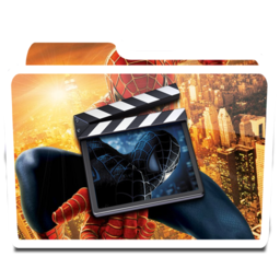 256x256px size png icon of White Movies Alt