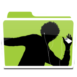 256x256px size png icon of White Music iPod 02