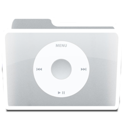 256x256px size png icon of White Music iPod