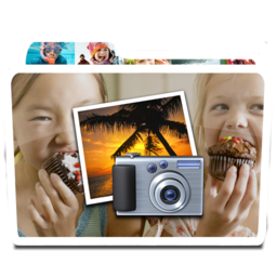 256x256px size png icon of White Photos Alt