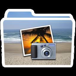 256x256px size png icon of White Photos Beach