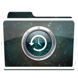 256x256px size png icon of White TimeMachine Alt
