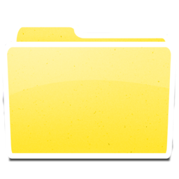 256x256px size png icon of White Yellow