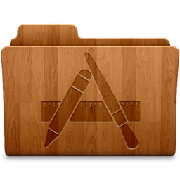 256x256px size png icon of Applications Wood