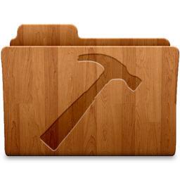 256x256px size png icon of Developer Wood