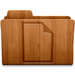 256x256px size png icon of Document Wood