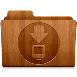 256x256px size png icon of Downloads Wood
